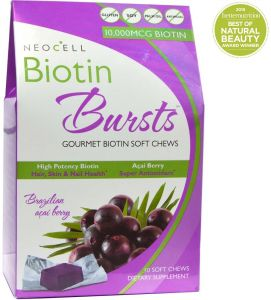 Neocell, Biotin Bursts, Brazilian Acai Berry, 30 Soft Chews