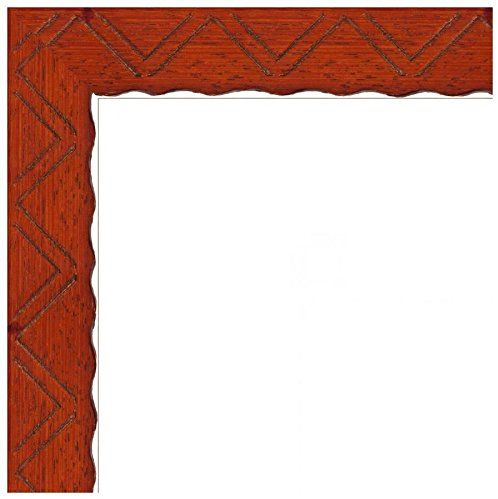 Picture Frame Chevron Carving on Cherry Stained Wood .. 1.125\'\' wide ...