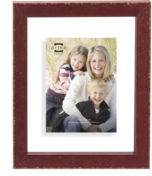 Prinz 2 Opening Bristol Distressed Wood Float Frame 8x10 Inch 1627