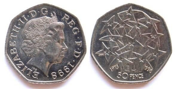 British Coin 50 Pence