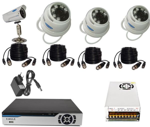security camera system day & night 3 indoor,1 outdoor AHD