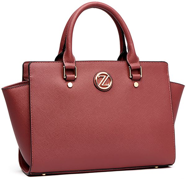 Zeneve London 217s6 3 Satchel Bag For Women Faux Leather Red
