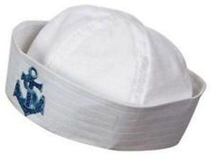 9f1d0725b41 Kids sailor navy boat costume hat cap with Blue anchor graphic patch