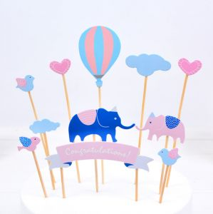 8cb0ecfaa8 Birthday Party Baby Shower A Stick Cakes Decor Inserted Card Bamboo  Skewer