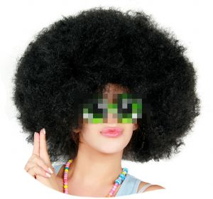 Super Afro Wig Big Huge Giant 70s Disco Clown Cosplay Black Color Wig 5a79698be69a