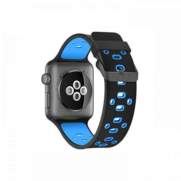 01e018f0770 Silicone Replacement Apple Watch Band 42mm Sport Edition Strap for Apple  Watch 1
