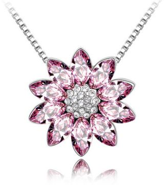 crystal pendant necklace - for women