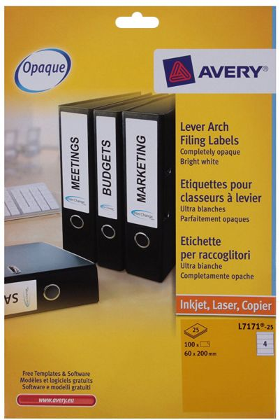 Souq Avery Filing Labels L7171 25 Uae