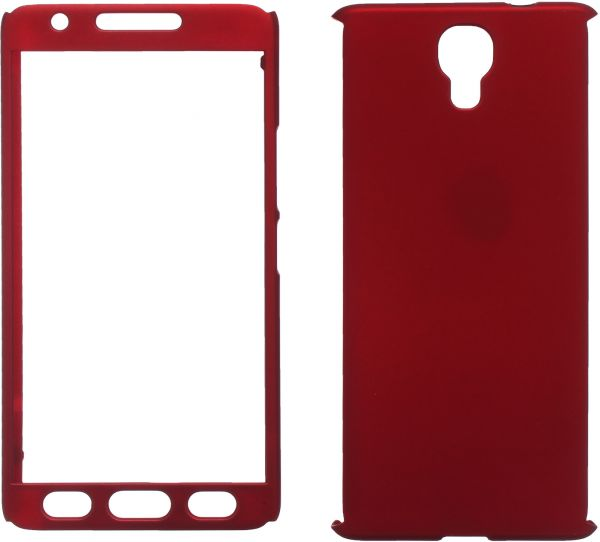 online store c054c af9d5 360 Protect Case Full Cover For Infinix Note 4, Red