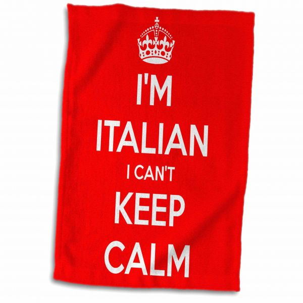 3drose Evadane Quotes I Cant Keep Calm Im Italian Red Towel 15