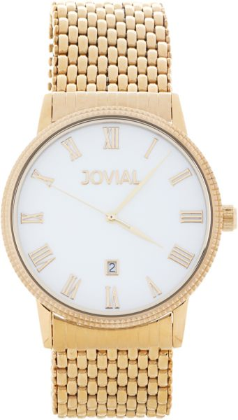 Jovial Casual Watch for Men, Analog, Stainless Steel - 5023