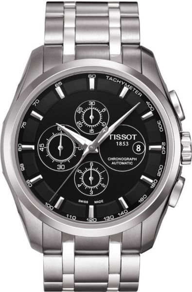 9d05a52f3 Tissot Men's Black Dial Color Metal Strap Watch - T035.627.11.051.00