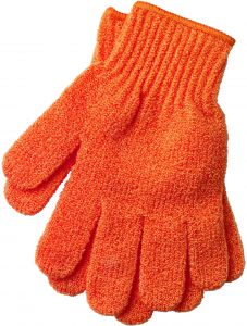 The Body Shop Bath Gloves Burnt Orange With Loop