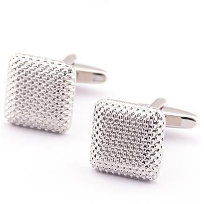 Fashion  Metal Square Texture Shirt Cufflinks Cuff Link Button Men Jewellry Accessories for Male
