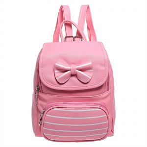 Yuejin 8211-282 Fashion Backpack for Girls - Faux Leather, Pink 02df88b63e