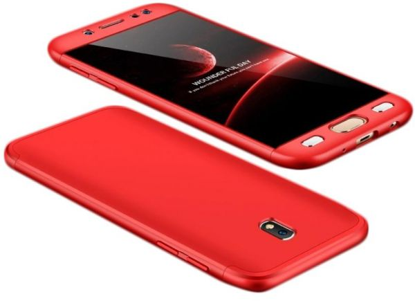 release date 6364d c62cc Samsung Galaxy J7 2017 /J7 Pro Case,Gkk 360 Full Protection Cover Case - Red
