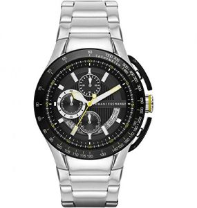 04c9fdc68d11 Armani Exchange Men s Black Dial Stainless Steel Band Watch - AX1408
