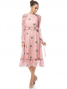 3ed059f4276e Buy pink floral mini dress party club evening or day wear made in ...