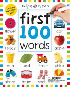Wipe Clean First 100 Words by Roger Priddy - Paperback