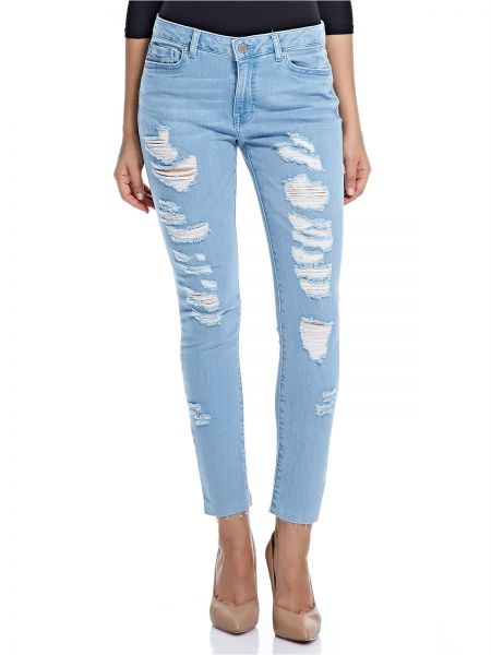 e41dd3c71dc Forever 21 Ripped Jeans For Women - Denim | Souq - Egypt