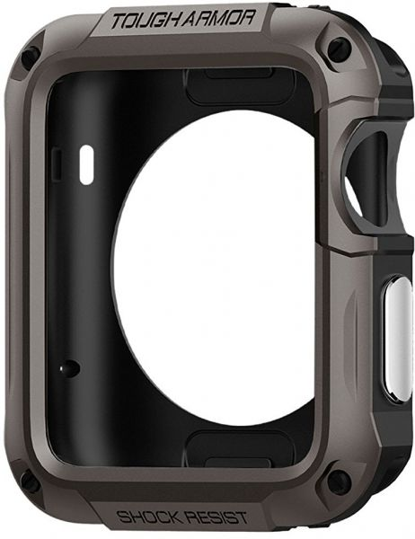 Spigen Apple Watch 42mm Series 3 / Series 2 Tough Armor Gun Metal Case / Cover with Screen Protector Gunmetal | Souq - UAE