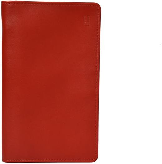 Jafferjees Red Leather For Unisex Passport Wallet Souq Uae
