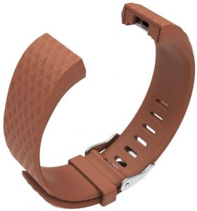 834c93cdc For Fitbit Charge 2 Replacement Bracelet Watch Band with rhombus  pattern-Small ,Brown