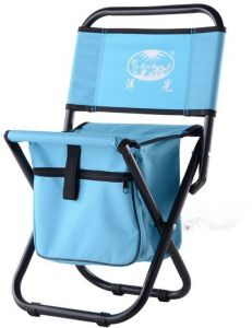 Wondrous Mini Protable Backpack Folding Chair With Cooler Bag Storage Pockets Convenient Ultra Lightweight Compact Outdoor Seat For Fishing Blue Camellatalisay Diy Chair Ideas Camellatalisaycom