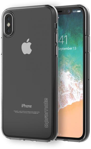 premium selection 5cb5e 9671d Promate iPhone X Case, Ultra-Thin and Slim Fir Crystal Transparent Flexible  Case with Anti-Scratch Rugged and Shockproof Protective Cover for Apple ...