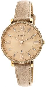 dc53903a1b9 Fossil Jacqueline Women s Rose Gold Dial Leather Band Watch - ES4292