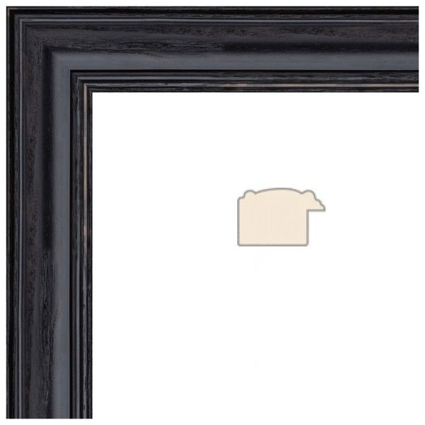 Souq | Picture Frame Black Stain on Solid Red Oak .. 1.25\'\' wide 7 x ...