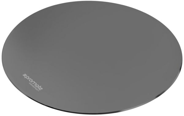 Promate Aluminium Mouse Pad, Premium Ultra-Thin Non-Slip Rubber Base and Metallic Surface Mouse Pad for Fast and Accurate Control for Any Optical Laser Mouse, Gamer, Desktop, Laptop, MetaPad-1 Grey