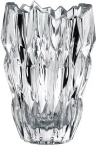 Nachtmann Crystal 16 cm Decorative Clear Oval Quartz Vase