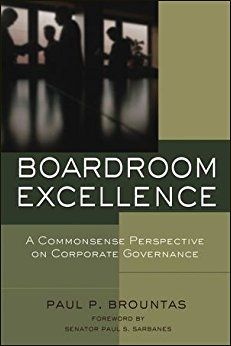 Boardroom Excellence:A Commonsense Perspective On Corporate Govern.Hc.