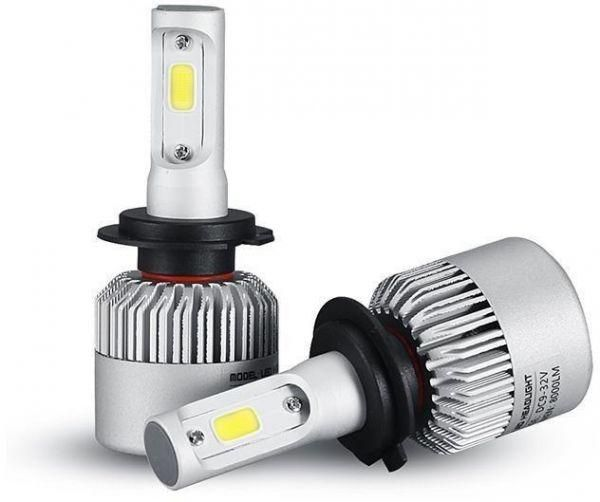 Pair bulbs LED for lamps car headlights size (H7) strongly 8000 Lumens