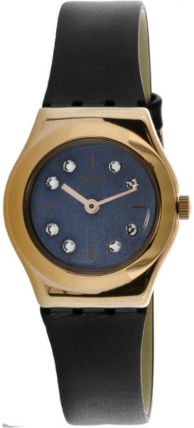 Swatch Oro-Loggia Women's Blue Dial Leather Band Watch