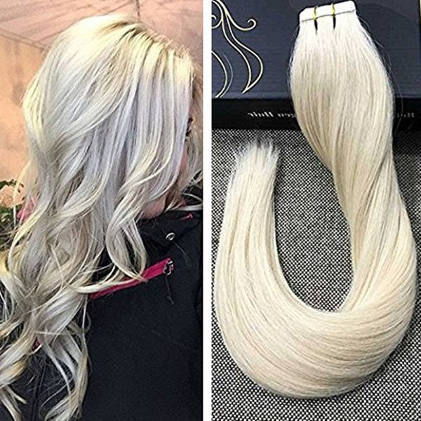 Ugeat 14inch 20pcs 50gram Tape In Human Hair Extensions Real Remy