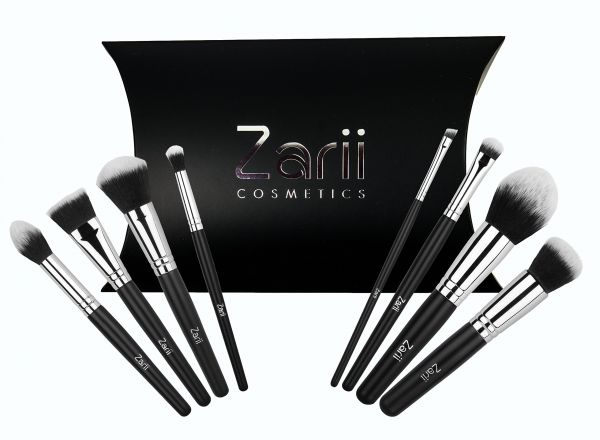 Makeup Brush Set by Zarii Cosmetics Professional Essentials Kit with ... 050c172f75
