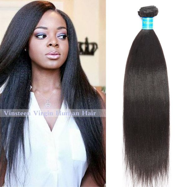 Souq Vinsteen 8a Brazilian Virgin Human Hair Weave Yaki Straight