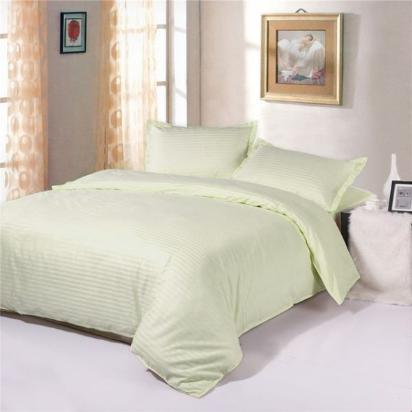 Souq | Cream King Size 200 X 200 + 30 Cm Hotel Linen Fitted Bed Sheet |  Kuwait