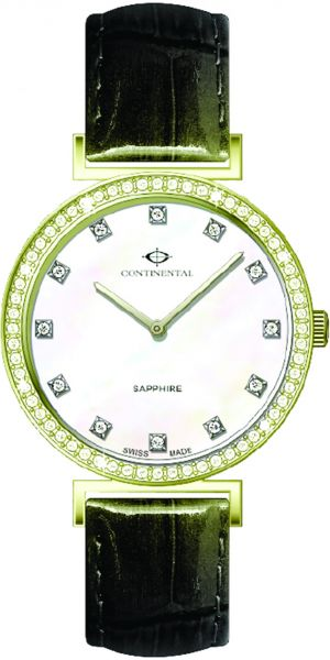 Continental Women's White Dial Leather Band Watch - 14601-LT254501