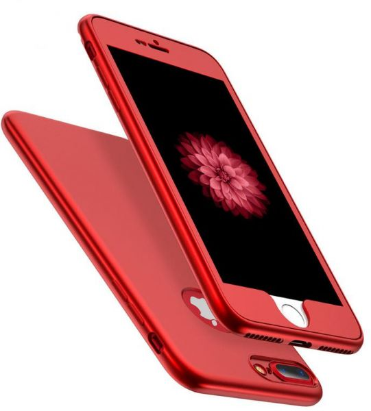 huge discount 8ae14 1af4e Iphone 8 Plus case Ipaky 360 Degree 2 pieces Silicon products front and  back - Red