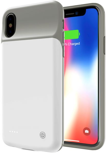 designer fashion 70dbe 2d3fd Apple iPhone X Battery pack case charger cover 3200 mAh - White