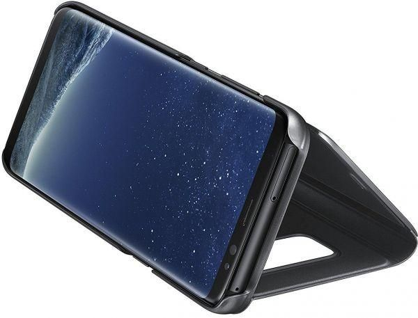 size 40 e7495 e53f7 Clear View Stand Flip Cover for Samsung Galaxy A8 Plus - Blue