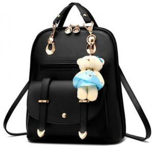 Women s Backpack Purse Pu Leather Ladies Casual Shoulder Bag School Bag for  Girls-Black 988c40dc0209c