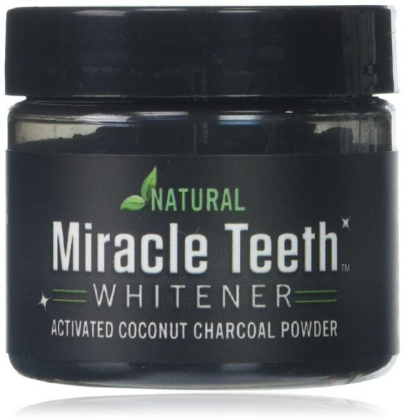 Miracle Teeth Whitener Natural Whitening Coconut Charcoal Powder