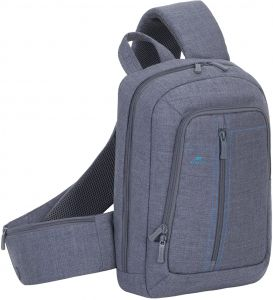 c542835bf9 Rivacase 7529 Laptop Canvas Sling Backpack 13.3 Inches - Grey