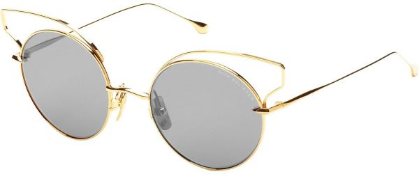 cf4878b744f Dita Believer Ladies Sunglasses 23008B in Gold Brushed Frame and Grey Lens  with Silver Flash