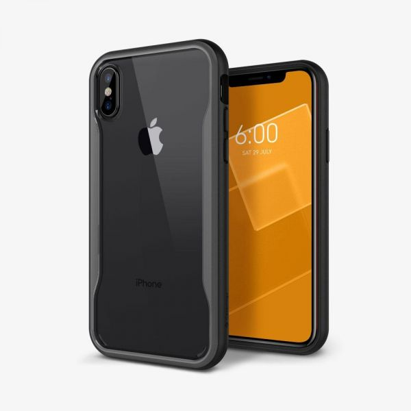 new styles fe1b3 6a114 Apple iPhone X Case Cover , Caseology , Black Back Panel , Gray ...