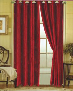 Editex Home Textiles Susane Crushed Velvet Curtain Panel With Grommet Set Of 2 Red 745PP8430